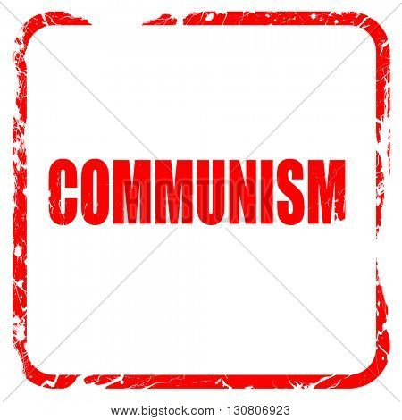communism, red rubber stamp with grunge edges