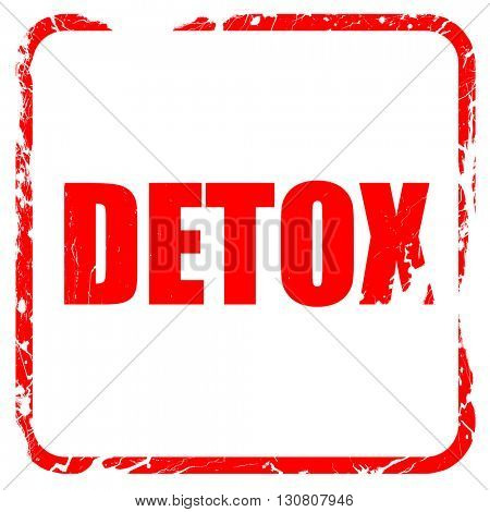 detox, red rubber stamp with grunge edges