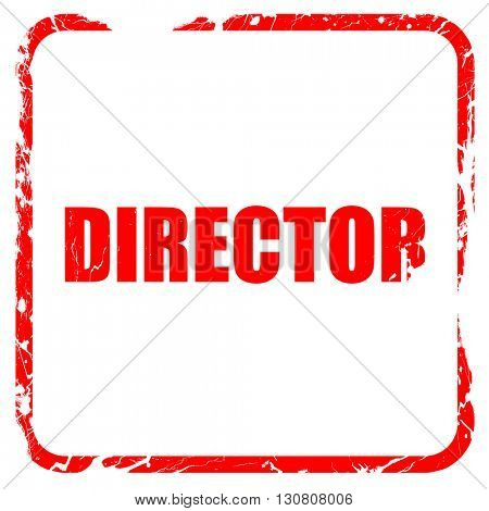 director, red rubber stamp with grunge edges