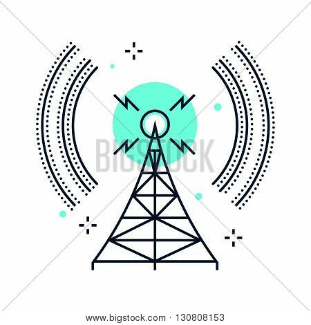 Color Line, Broadcasting Concept Illustration, Icon