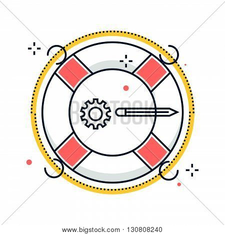 Color Line, Life Buoy Illustration