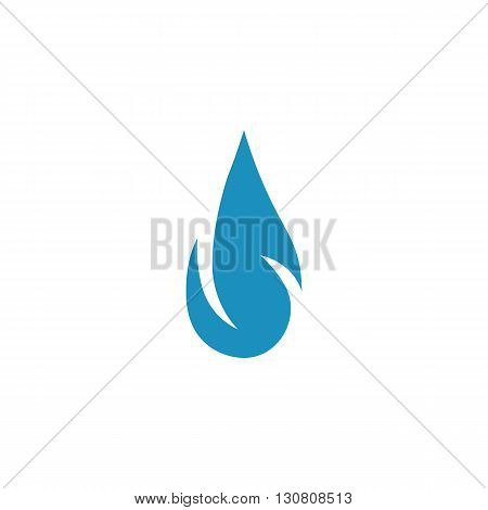 Drop Icon. Drop logo. Vector design element. Abstract emblem, graphic design concept. Logotype element for template. Vector illustration on white background - stock vector