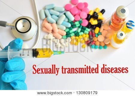 Syringe with drugs for sexually transmitted diseases