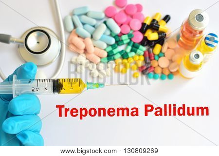 Syringe with drugs for Treponema Pallidum (syphilis)