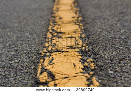The Way road destination for background, Yellow line.