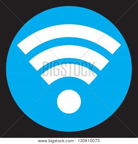 Wifi icon flat design. Internet signal mobile web technology wireless communication. Vector flat design illustration