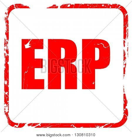 erp, red rubber stamp with grunge edges