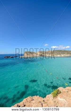 Swimming Area, Blue Lagoon On Gozo / Malta