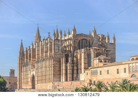 Cathedral Of Santa Maria Of Palma And Parc Del Mar