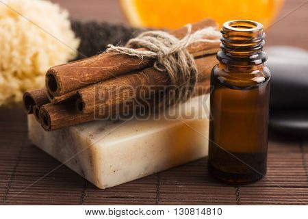 Bar Of Soap With Cinnamon And Orange