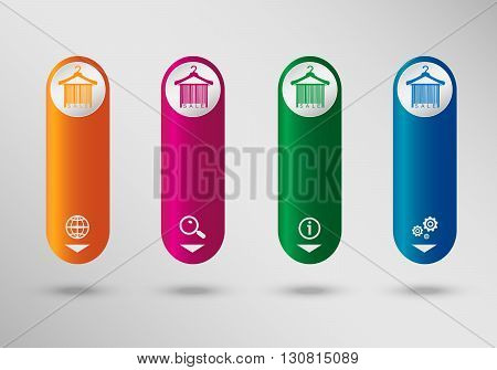 Sale Barcode Clothes Hanger On Vertical Infographic Design Template