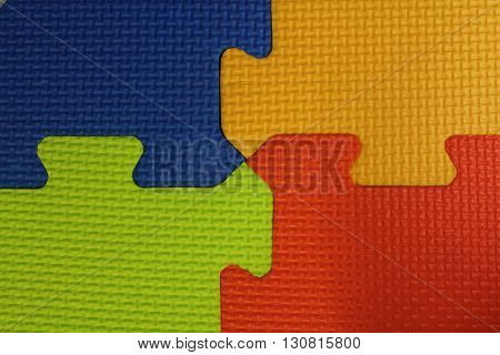 Puzzle mat, four colors Rubber Floor Abstract Background. texture