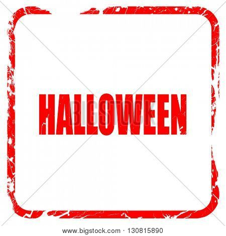 halloween, red rubber stamp with grunge edges