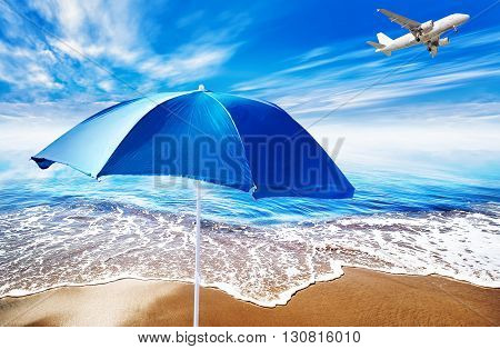 picture of a vacation background with a beach