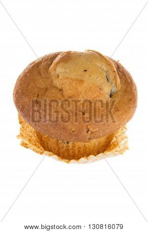 Tasty Single Light Chocolate Chip Muffin Isolated