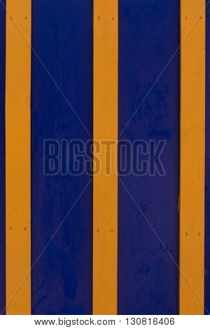 Navy Blue And Yellow Wood Separated To Background