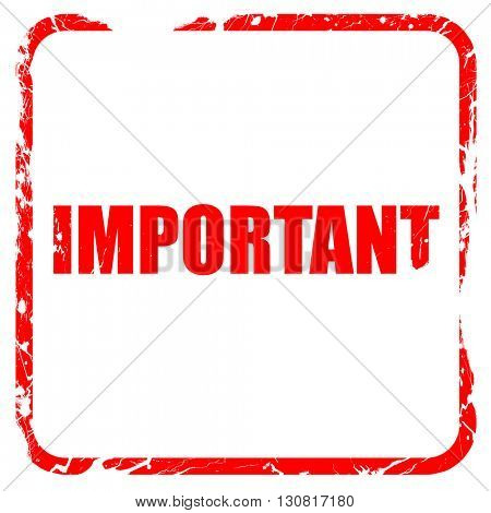 important sign background, red rubber stamp with grunge edges