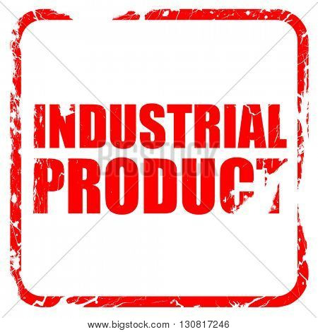 industrial product, red rubber stamp with grunge edges