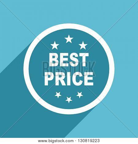 best price icon, flat design blue icon, web and mobile app design illustration
