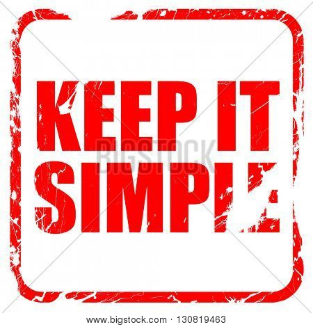 keep it simple, red rubber stamp with grunge edges