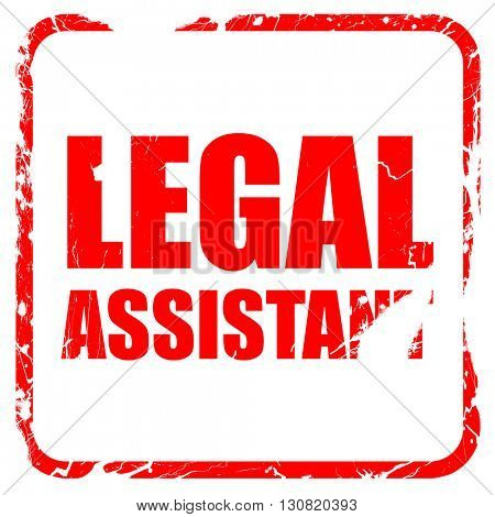 legal assistant, red rubber stamp with grunge edges
