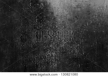 Black Grunge Background / Black Wall Texture with spotlight