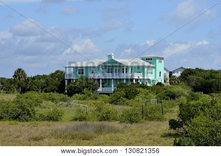 Luxury condo apartments on the marshland of Florida,USA.