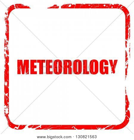 meteorology, red rubber stamp with grunge edges