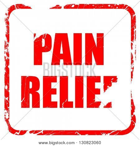 pain relief, red rubber stamp with grunge edges