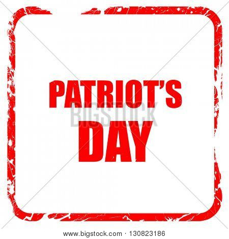patriot's day, red rubber stamp with grunge edges