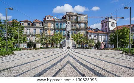 PORTO, PORTUGAL - APRIL 20, 2016: Jardim de Carlos Alberto in Porto, Portugal