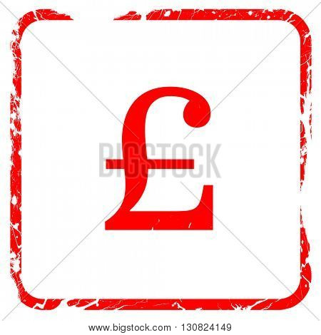 pound sign, red rubber stamp with grunge edges