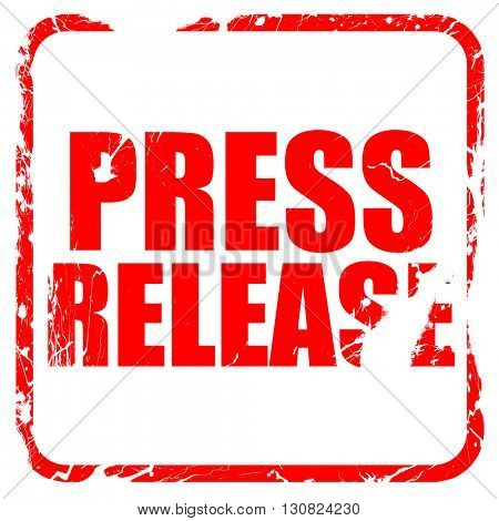 press release, red rubber stamp with grunge edges