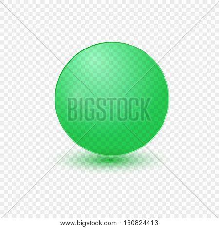Glass transparent sphere green eps vector illustration.