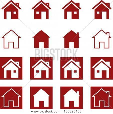 Home Icon Symbol Vector Illustration