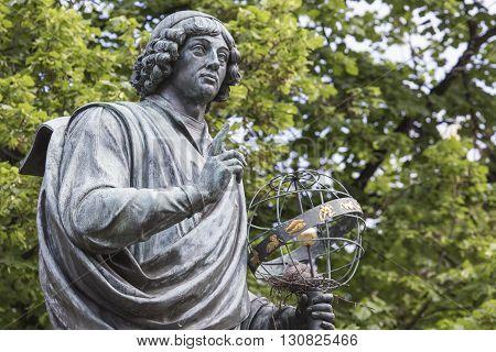 Monument Of Great Astronomer Nicolaus Copernicus, Torun, Poland