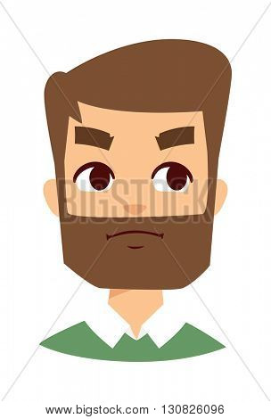 Angry face vector illustration.
