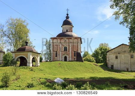 Kirillov, Russia - May 28: Kirillo-Belozersy Monastery. This is church of st. John the Baptist and the tombs of the abbots May 28, 2013 in Kirillov, Russia.