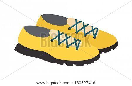 Yellow sneakers vector illustratioon.