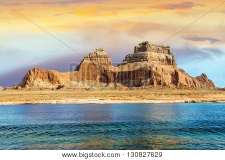 lake Powell and Glen Canyon Arizona and Utah USA
