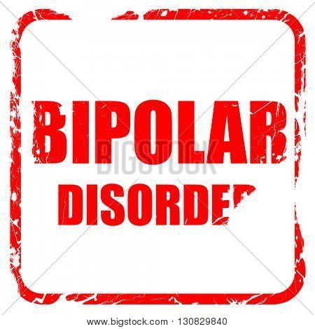 Bipolar sign background, red rubber stamp with grunge edges