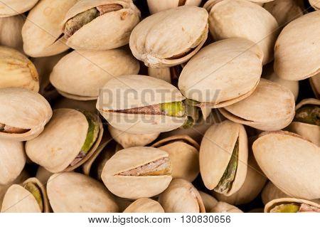 Pistachio Nuts Arranges As Background
