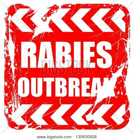 Rabies virus concept background, red rubber stamp with grunge ed