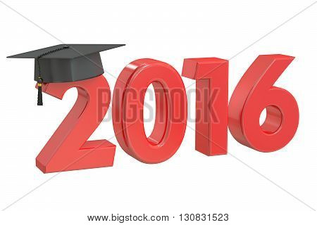 Graduate 2016 3D rendering isolated on white background