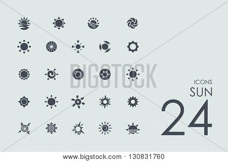 sun vector set of modern simple icons