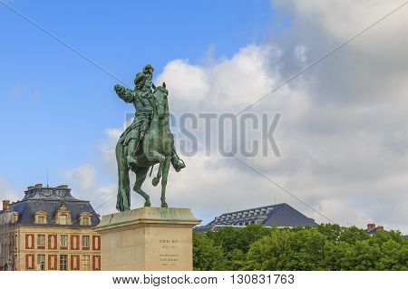 Versaillrs, France - May 12: Palace of Versailles. This is a monument to Louis XIV May 12, 2013 in Versailles, France.