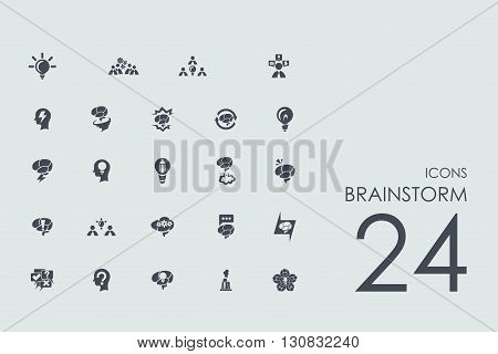 brainstorm vector set of modern simple icons