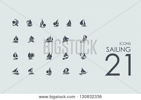 sailing vector set of modern simple icons