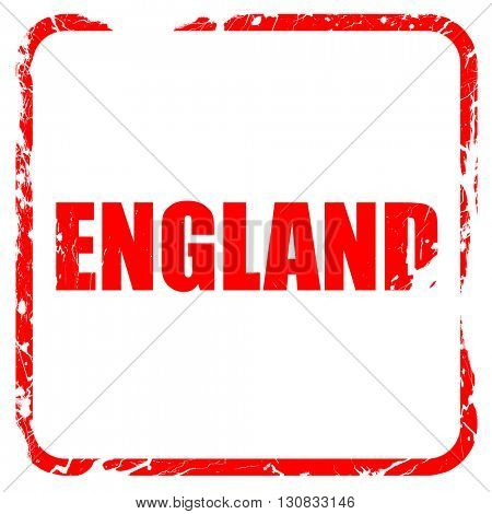 england, red rubber stamp with grunge edges