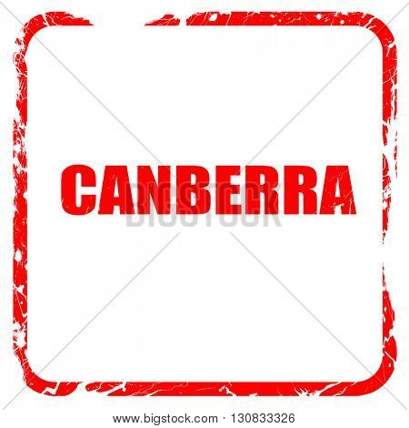 canberra, red rubber stamp with grunge edges